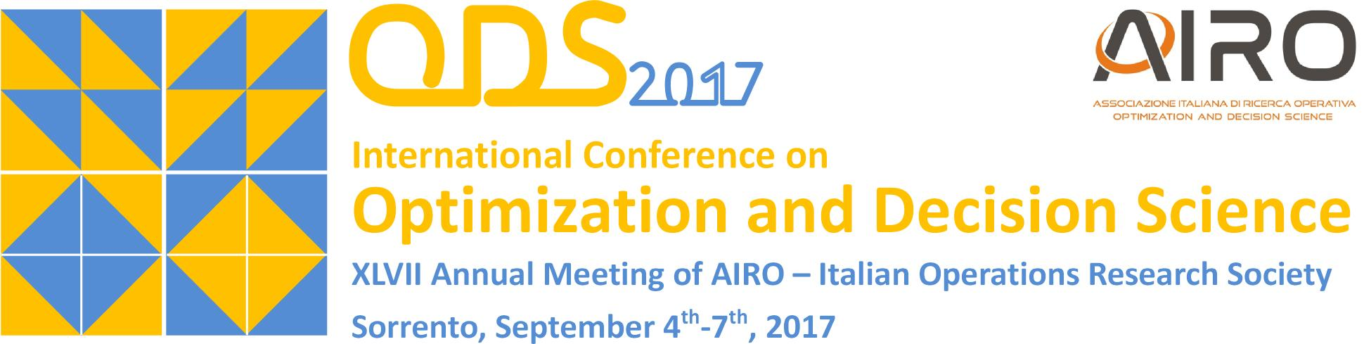 ODS2017 - Optimization and Decision Science