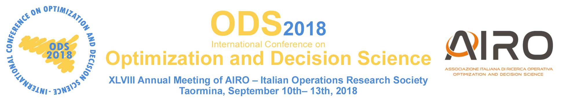 ODS 2018 - Optimization and Decision Science 2018